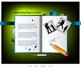 Website template, good for family web, vecto