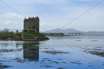 castle stalker loch linnhe scotland
