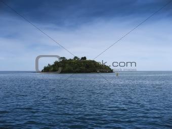 small island big blue sea