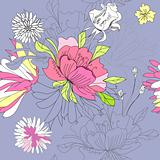 Seamless wallpaper with flowers