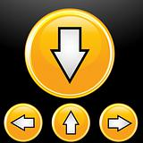 vector set of arrow button