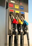gas pumps on petrol station
