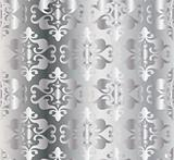Abstract silver floral pattern. Vector
