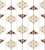 Ornate seamless brown pattern. Vector