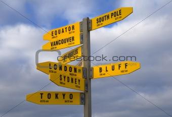 Cape Reginga Signpost