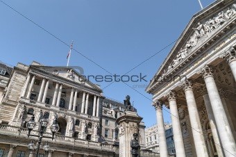 Bank Of England and Royal Exchange,