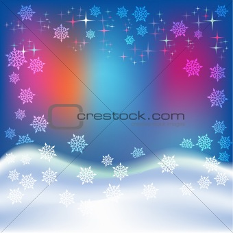 abstract christmas blue background