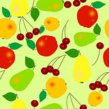 Seamless fruit pattern