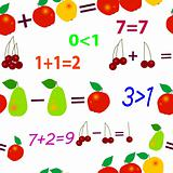 Seamless mathematical fruit pattern