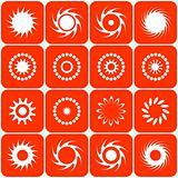 Abstract sun icons. Vector.