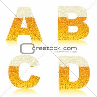 alphabet beer