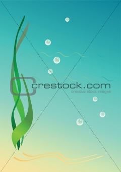 Background with seaweeds