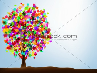 Autumn abstract colorful background