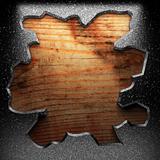 iron plate on wood