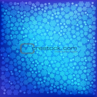 abstract christmas blue snowflake background