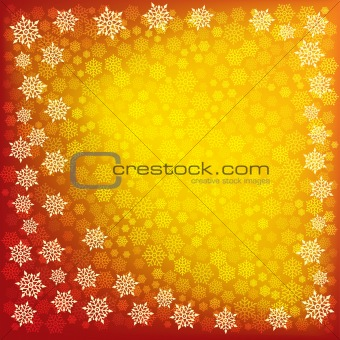 abstract christmas snowflake on a red background