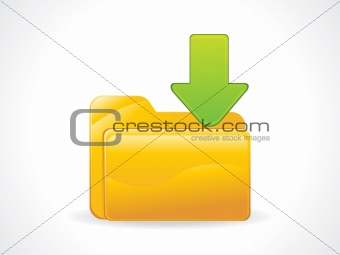 abstract glossy download icon