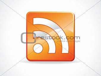 abstract glossy feed icon
