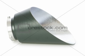 Backlight reflector isolated on the white background