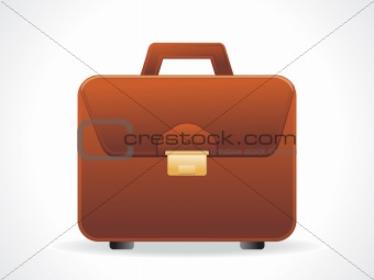 abstract glossy briefcase icon