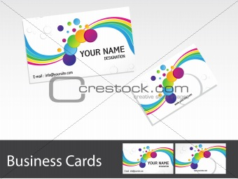 abstract colorful business cards template