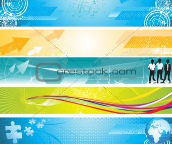 abstract colorful grunge web banners