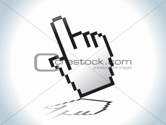 abstract hand icon