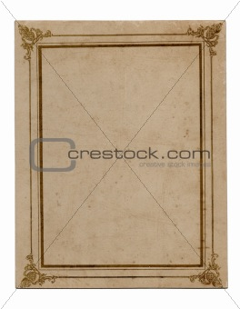 Old paper with frame