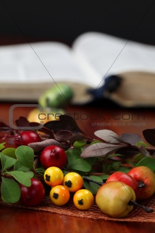 Autumn arrangement and the Bible