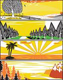Popart landscape banners
