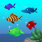 Cartoon fish assorted