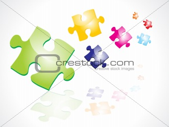 abstract colorful puzzles