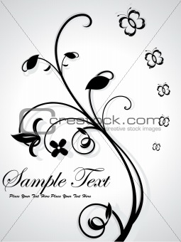 abstract floral with sample text