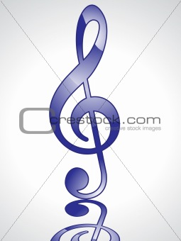 abstract blue glossy musical word