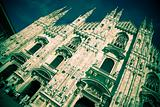 Milan Cathedral Facade Toned and Vignetted