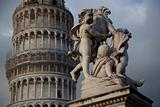 some details of miracoli square monuments in pisa