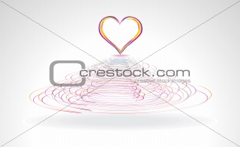 abstract colorful heart in cercal