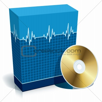 Box with medical software