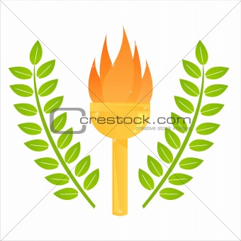 olympic torch illustration