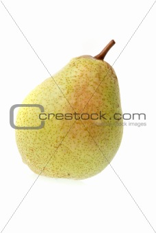 Single ripe pear