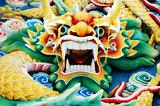 Colourful Chinese Dragon Head