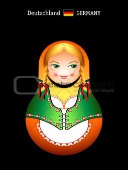 Matryoshka german girl