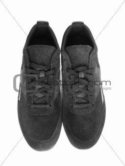 Black women's sneakers. Insulation.