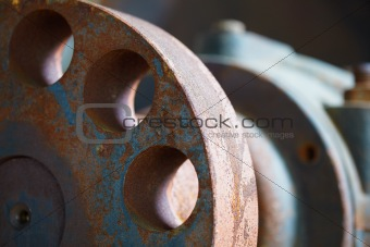 Old rusty industrial parts