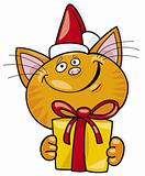 Santa claus cat