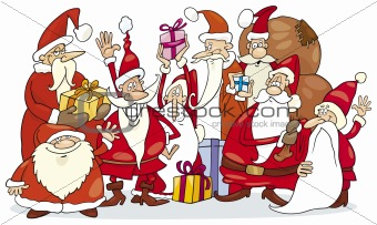 Santa claus group