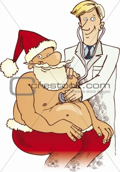 Santa Claus at doctor