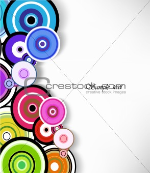 Abstract colorful ring background. Vector