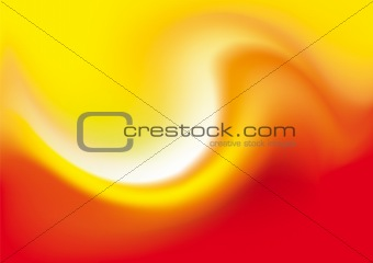 Abstract Background - Red/Orange Wave. Vector Illustration.