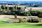 Panorama of the Italian countryside